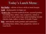 today s lunch menu