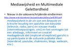 mediawijsheid en multimediale geletterdheid