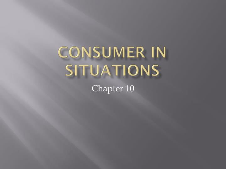 consumer in situations n.