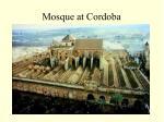 mosque at cordoba