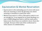 equivocation mental reservation