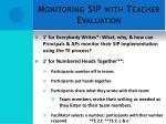 monitoring sip with teacher evaluation