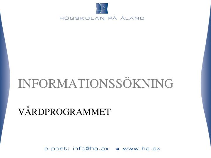 Informationss kning