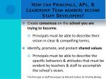 how can principals aps leadership team members become staff developers1