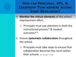 how can principals aps leadership team members become staff developers2