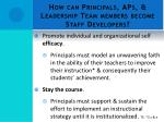 how can principals aps leadership team members become staff developers4