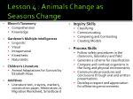 lesson 4 animals change as seasons change