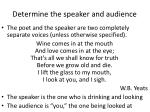 determine the speaker and audience