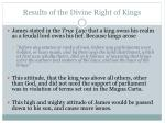 results of the divine right of kings