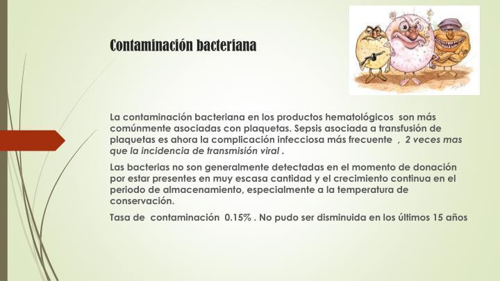 Contaminación bacteriana