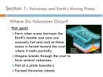 section 1 volcanoes and earth s moving plates7
