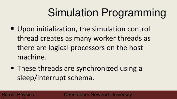 Simulation Programming