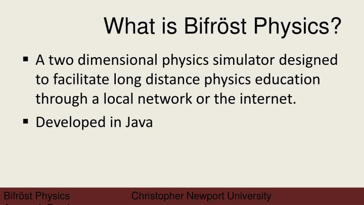 What is bifr st physics