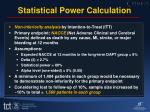statistical power calculation