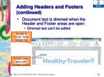 adding headers and footers continued2