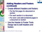 adding headers and footers continued3
