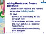 adding headers and footers continued4
