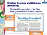 creating sections and columns continued1
