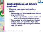 creating sections and columns continued2