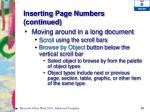 inserting page numbers continued1