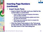 inserting page numbers continued2