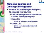 managing sources and creating a bibliography