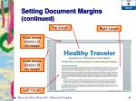 setting document margins continued1