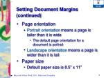 setting document margins continued2