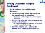 setting document margins continued4