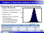 problem1 conservative estimate of the fall time1