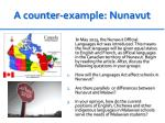 a counter example nunavut