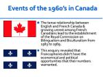 events of the 1960 s in canada