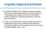 linguistic hegemony schools2