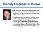 minority languages in malawi1