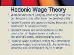 hedonic wage theory