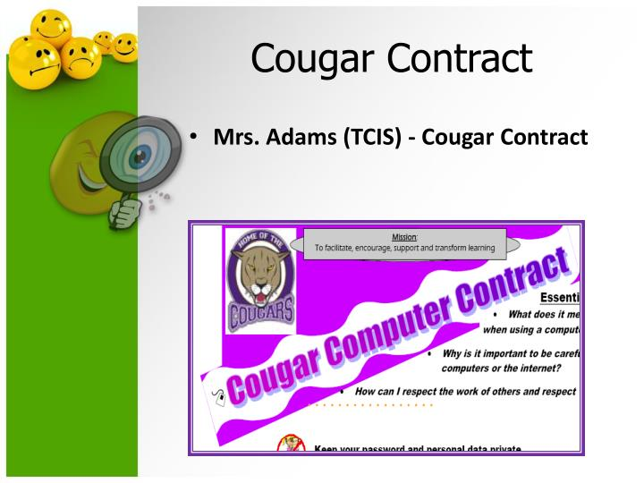 Mrs. Adams (TCIS) - Cougar Contract