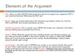 elements of the argument