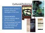 cultural historical