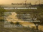 race post colonial