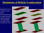 simulations of helicity condensation1