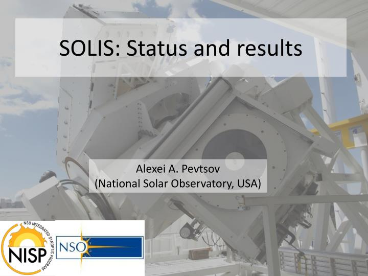 solis status and results n.