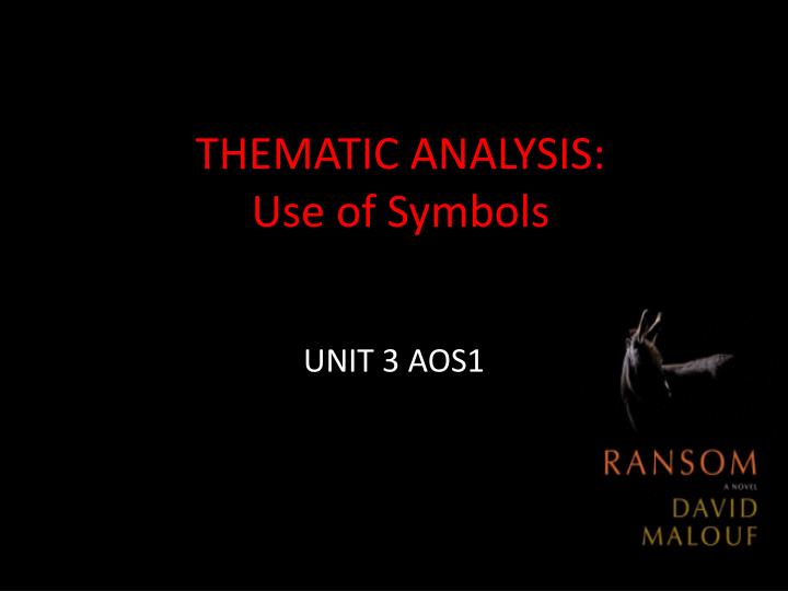 thematic analysis use of symbols n.