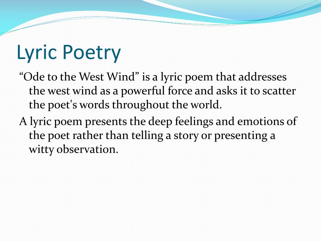 Ppt Ode To The West Wind Powerpoint Presentation Free Download Id 2123898 Poetic Device Used In