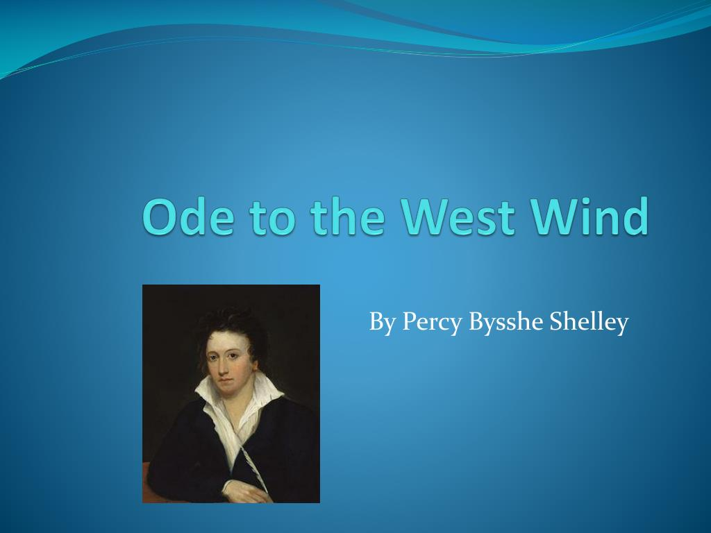 ode to the west wind summary and analysis