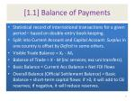 1 1 balance of payments