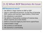 1 3 when bop becomes an issue