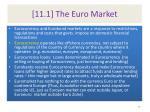 11 1 the euro market