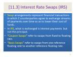 11 3 interest rate swaps irs