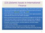 13 1 islamic issues in international finance