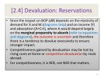 2 4 devaluation reservations